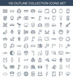 100 collection icons - 248587157