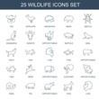 25 wildlife icons