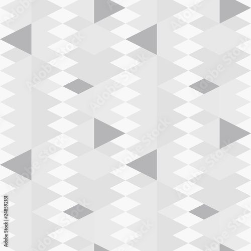 fototapeta na ścianę ..Triangles background. Vector geometric seamless pattern in pastel retro colors and textured simple shapes.