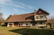 Leinwanddruck Bild - Bauernhaus