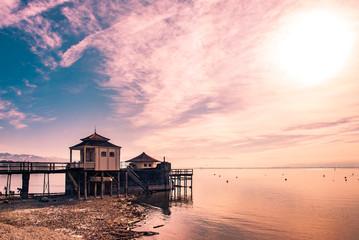 Bootshaus in Wasserburg am Bodensee © dietwalther