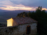 very nice view of pienza a medieval village in val d orcia - 248596968