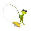 3D Illustration of a Fisherman Frog