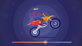 Motocross vector illustration. Sport and activity background.