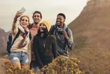Group selfie on hiking - 248604937