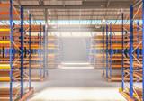 empty warehouse background - 248610173