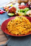 Handmade Indian curry chicken rice