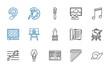 artistic icons set