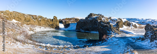 Hjalparfoss Wasserfall in Süd-Island - 248618157