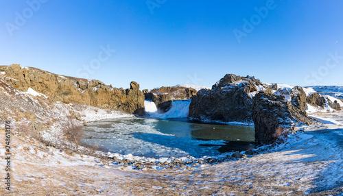 Hjalparfoss Wasserfall in Süd-Island - 248618176