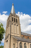 Tower of the historic Martini church in Doesburg, Netherlands - 248618979