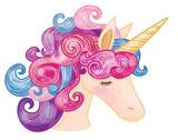 Vector cute  unicorn cartoon.