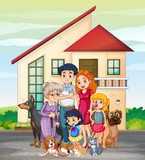 Family member in front of house - 248635776