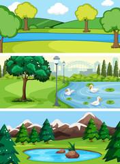 Set of water landscape © GraphicsRF