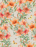 Lilies seamless background pattern. Version 5