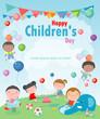 Happy children's day background, vector illustration - 248640902