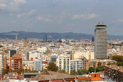 fototapeta na ścianę Beautiful view of Barcelona, Catalonia, Spain