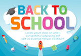Back to school banner background.welcome back to school ,Cute school kids.education concept, Template for advertising brochure, your text ,Vector Illustration