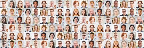 Leinwandbild Motiv Panorama Generationen Portrait Collage