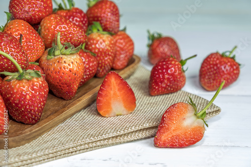 Foto Murales Red Strawberry fruit