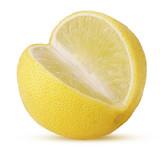 Fresh yellow lime three quarters