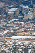 Panoramic view of Golden, Colorado with the largest brewery in the world, USA