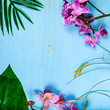 Orchids (Phalaenopsis) and leaves