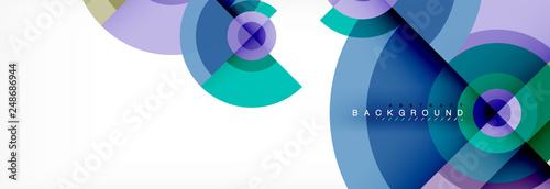 Round circles and triangles abstract background