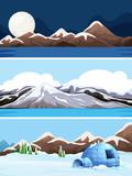 Set of winter landscape - 248690116