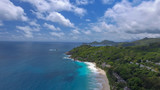 Mountains of Seychelles, aerial view - 248693541