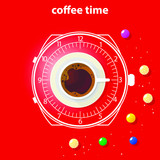 Coffee theme illustration. For decoration, print or advertising.