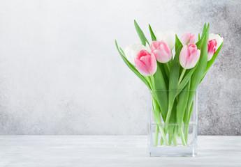 Colorful tulips flower bouquet