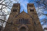 neo-roman catholic church st michael at brüsseler platz in cologne, germany - 248697703