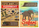 Hunting ammo, African safari animals
