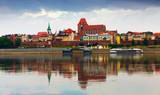 Torun with Cathedral Basilica across Vistula