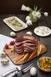 Leinwandbild Motiv Spicey Ham For Easter