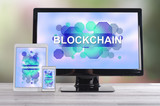 Blockchain concept on different devices - 248709573