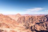 Gold arid desert landscape on Sinai, Egypt - 248713729