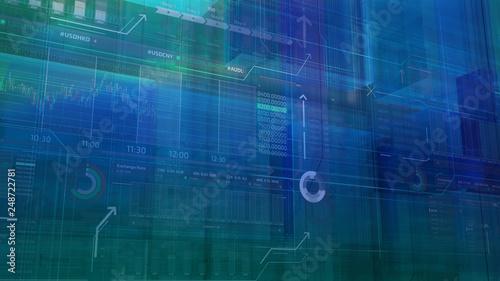 Leinwanddruck Bild Abstract stock exchange infographics