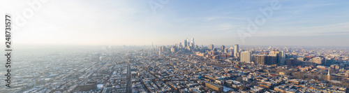 Aerial panoramic photo Downtown Philadelphia PA - 248731577