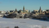 Aerial view of Ottawa Ontario Canada downtown with Parliament Hill government - 248740118
