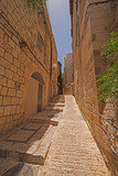 Narrow Walkway in an Old City