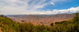 Cusco, Peru, -January 2019  Panoramic aerial view over the main square of Cusco (Plaza de Armas) - 248762386