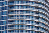 balconies of modern high rise apartment building - 248770339