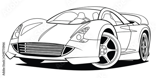 Exotic Car Vector Outline