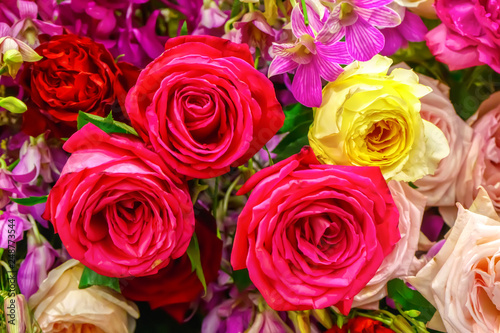 The rose is the flower represents love. Its on a flower background.