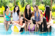 Quadro Friends At A Pool Party
