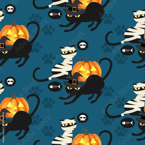 fototapeta na ścianę Halloween seamless pattern.
