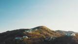 Aerial Establishing shot of a jungle hideout, mansion, lair. 4K Drone shot. - 248786383