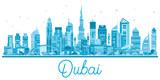 Dubai UAE City Skyline with Modern Architecture.